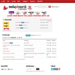 Media Job Search Canada