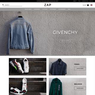 ZAP Clothing - The Finest Designer Clothing For Men