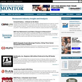 Restaurant Finance Monitor - Restaurant Industry Insight, News and Analysis