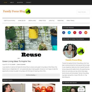 Family Focus Blog - Top mom blog for better family life by Nashville blogger.