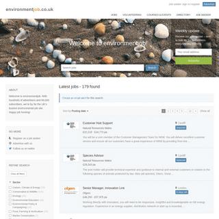 Environmental jobs - Environmentjob.co.uk
