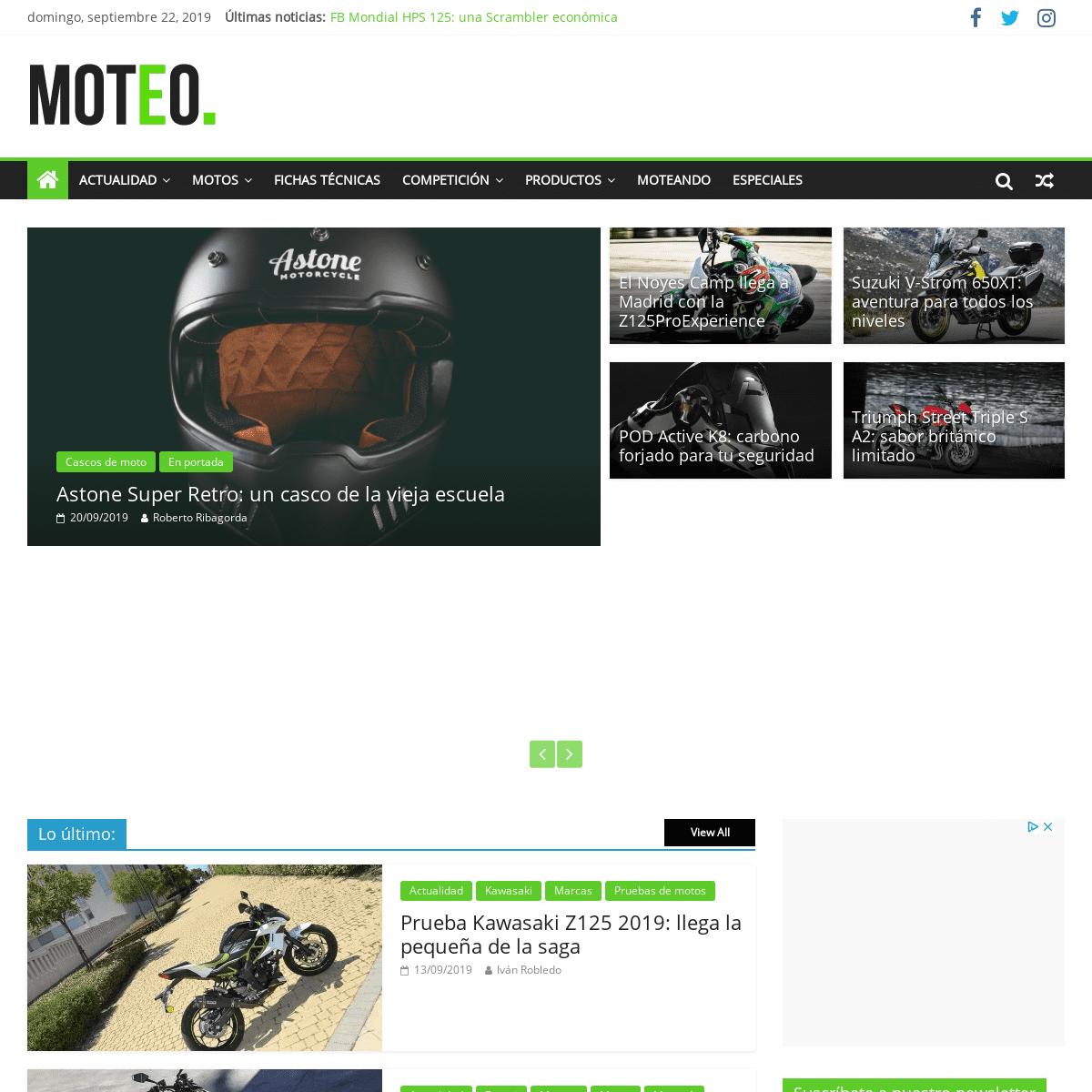 Moteo.es - Compartimos tu pasión por las motos. Toda la información sobre las dos ruedas.