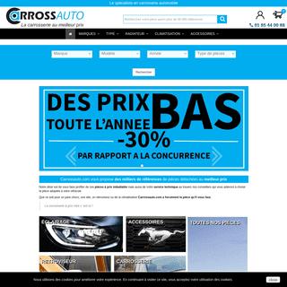 Pièces de carrosserie automobile - les meilleurs prix du net - CarrossAuto