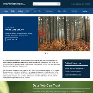 ArchiveBay.com - ncnhp.org - Natural Heritage Program