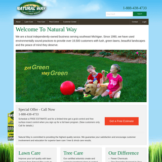 Natural Way Lawn and Tree Service - Get Green Stay Green
