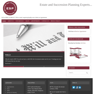 Estates And Succession Planning - Call us FREE on 0800 027 7050 or email- enquiries@espllp.com to Book an Appointment