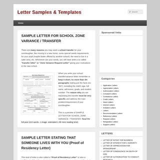Letter Samples & Templates
