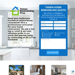 Tampa Remodeling Pros - Bathroom, Kitchen & Home Remodel