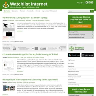 Watchlist Internet- Watchlist Internet – Online-Betrug, -Fallen & -Fakes im Blick