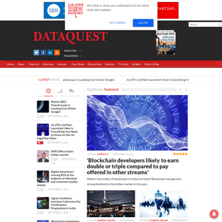 DATAQUEST - The Bible of Indian IT (Information and Trends, Analysis, Research, News, People, Events)DATAQUEST - The Business of