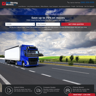 FREE Instant Moving Quotes From Best Canadian and USA Movers