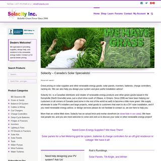 Solacity - Canadian Green Power Goods & Great Advice!