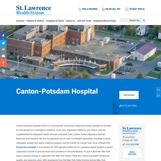 Canton-Potsdam Hospital - St. Lawrence Health System