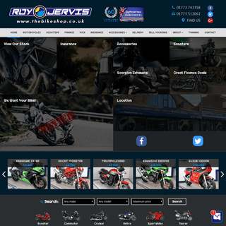 Used motorbikes for sale in Derby & Derbyshire- Roy Jervis Bike Shop