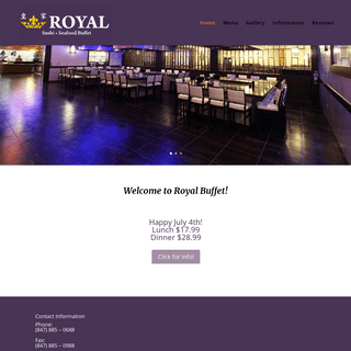 Royal Buffet - Sushi - Seafood - 31 Golf Center, Hoffman Estates, IL 60169