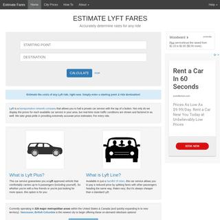 Estimate Lyft Fares - Calculate Any Ride's Cost
