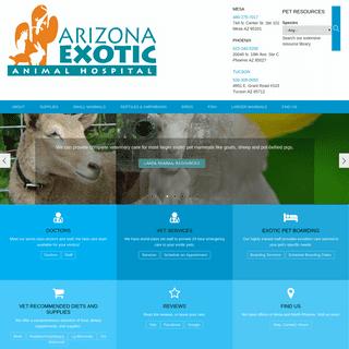 Arizona Exotic Animal Hospital - Veterinary care for exotic pets in Phoenix, Mesa, Tempe, Chandler, Gilbert AZ