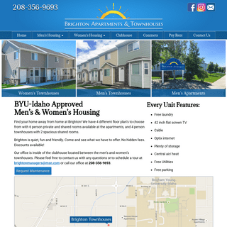 Brighton Housing – BYU-I Student Housing in Rexburg