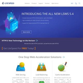 Internet. Accelerated. - LiteSpeed Technologies