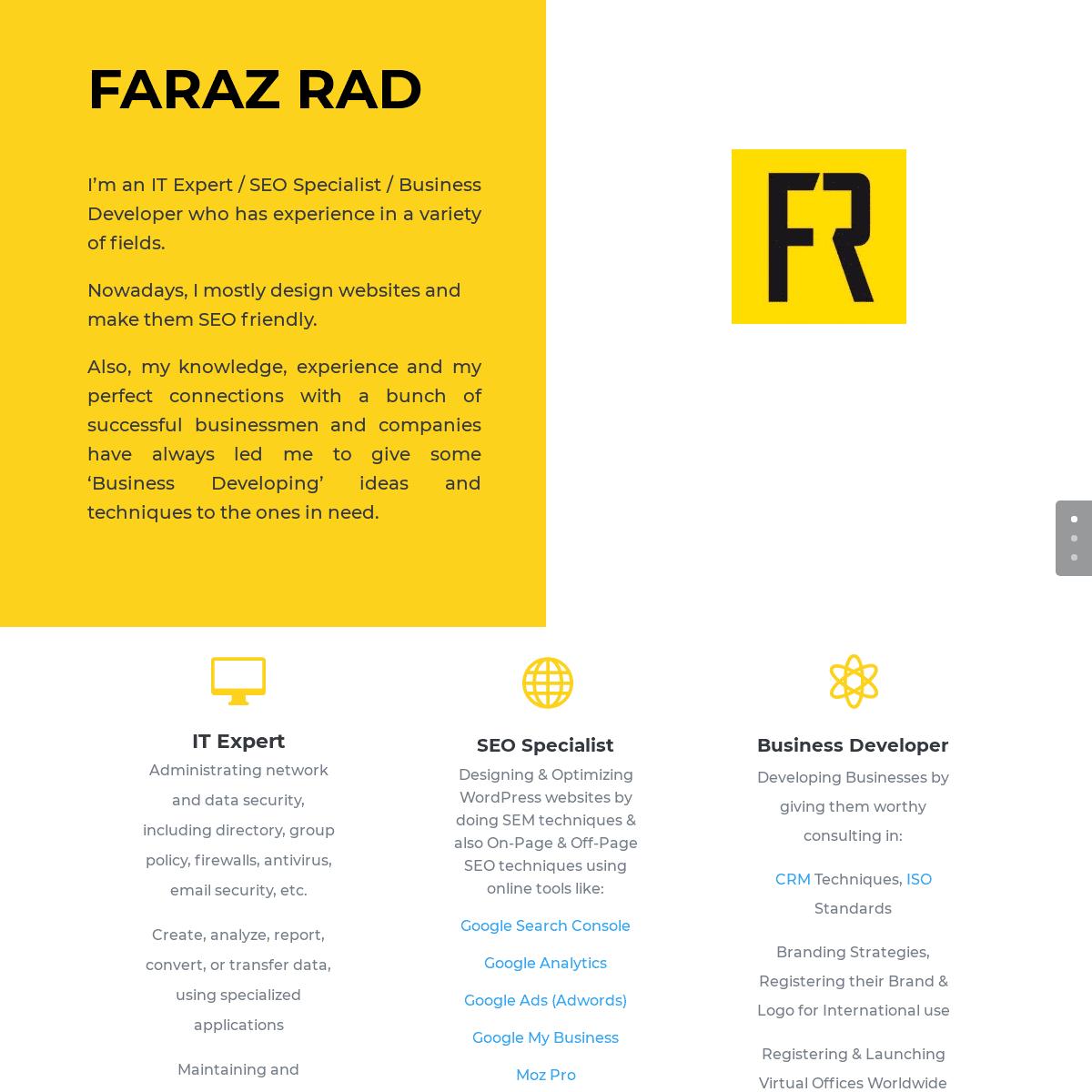 ArchiveBay.com - farazrad.info - Faraz Rad - IT Expert - SEO Specialist - Business Developer