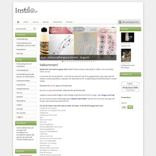 Instila - pysseltillbehör för scrapbooking och korttillverkning