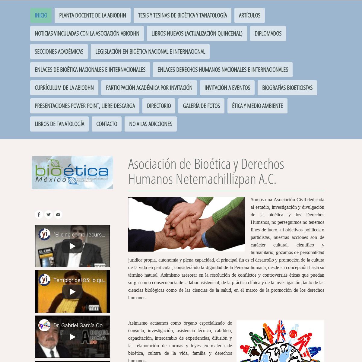 ArchiveBay.com - bioeticamexicana.org - Asociación de Bioética y Derechos Humanos Netemachillizpan A.C. - bioeticamexicana