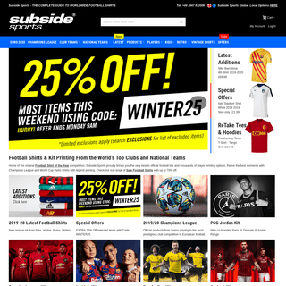 Official Football Shirts- Club and World Cup Kit from Subside Sports
