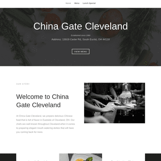 China Gate Cleveland - Cheap & Quick To-go Chinese Food in East of Cleveland