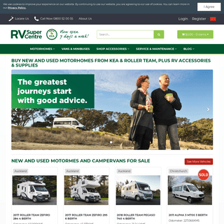 Motorhomes For Sale - New & Used - RV Super Centre New Zealand