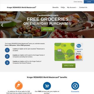 Kroger REWARDS World Mastercard® - Home 1-2-3 REWARDS Credit Card