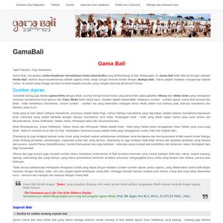 Gama Bali