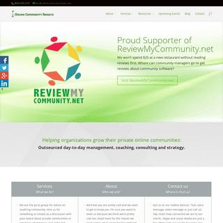 Online Community Results - Online Community Results