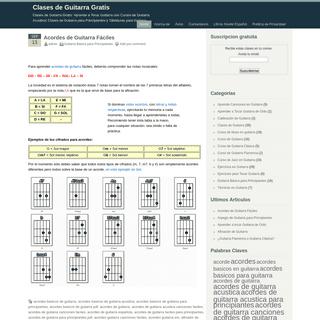 Clases de Guitarra Gratis .com