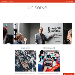 Uniserve Communications - Residential, Smart Cities, Enterprise Solutions