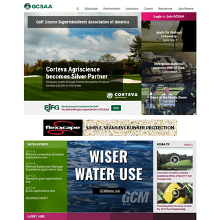 ArchiveBay.com - gcsaa.org - Golf Course Superintendents Association of America - GCSAA