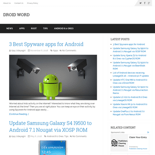 Droid Word - An Android News Community