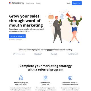 ReferralCandy - Best Customer Referral Program Software for Referral Marketing