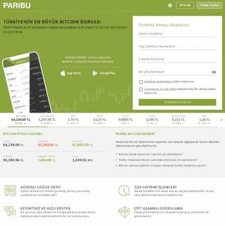 (64239 TL - Bitcoin) Paribu - Türkiye'nin En Büyük Bitcoin Borsası