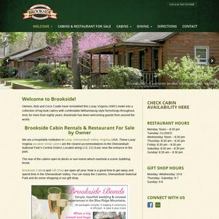 Cabin Rentals Luray,VA - Brookside Cabins near Shenandoah National Park