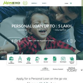Peer to Peer Lending in India - P2P Lending - Apply for Personal Loans Online - Monexo