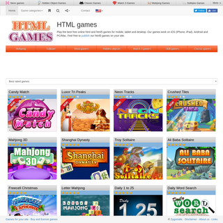 HTML5 Games- Play free online html and html5 games for mobile, tablet and desktop