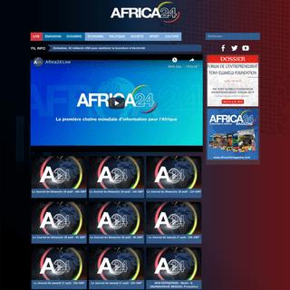 Africa24 - La première chaîne mondiale d'information pour l'Afrique