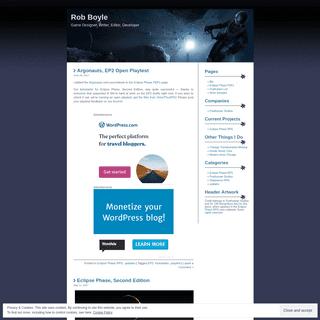 ArchiveBay.com - robboyle.wordpress.com - Rob Boyle - Game Designer, Writer, Editor, Developer