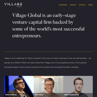 Village - Early Stage Venture Capital Backed by Some of the World's Best Entrepreneurs