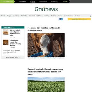 Grainews - Practical production tips for the prairie farmer