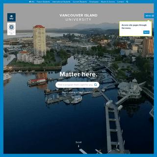 Vancouver Island University - Canada – Master & Bachelor