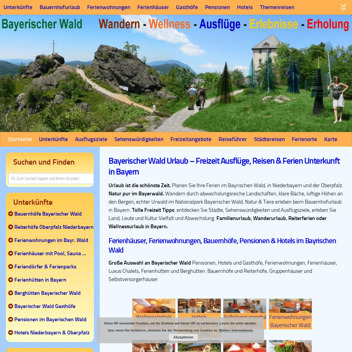 Bayerischer Wald Ferien Urlaub Ferienwohnung Bauernhof Bayern Hotel Pension