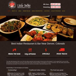 Indian Restaurant & Bar in Denver, CO - Little India of Denver