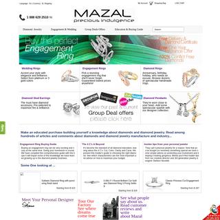 Diamond Rings, Engagement Rings, Diamond Earrings, Diamond Jewelry - Mazal Diamond