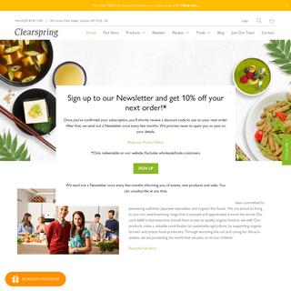 Clearspring Ltd - Japanese, Macrobiotic & Organic Fine Foods